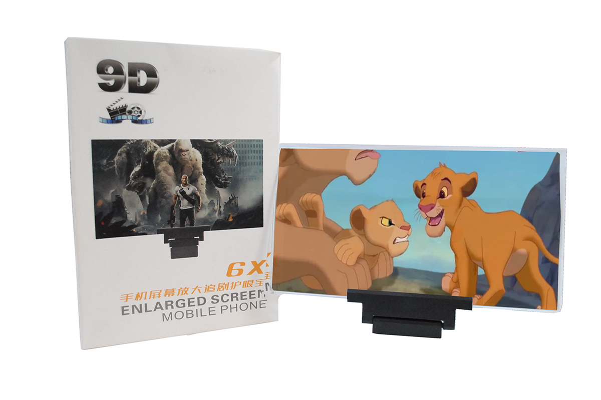شاشة ثلاثية الابعاد لعرض الفيديوهات 6X