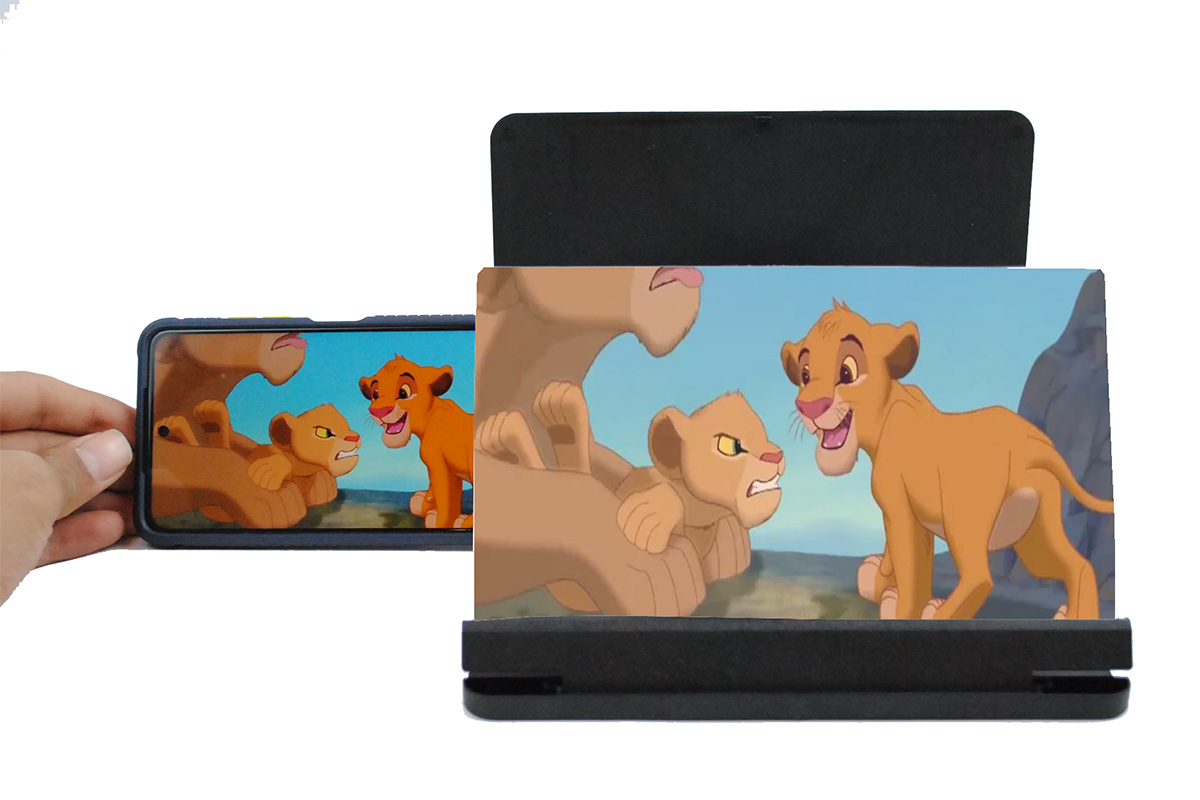 شاشة ثلاثية الابعاد لعرض الفيديوهات F4