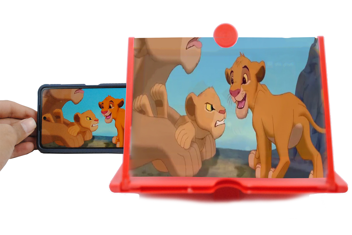 مكبر الشاشة 3D 8 بوصة