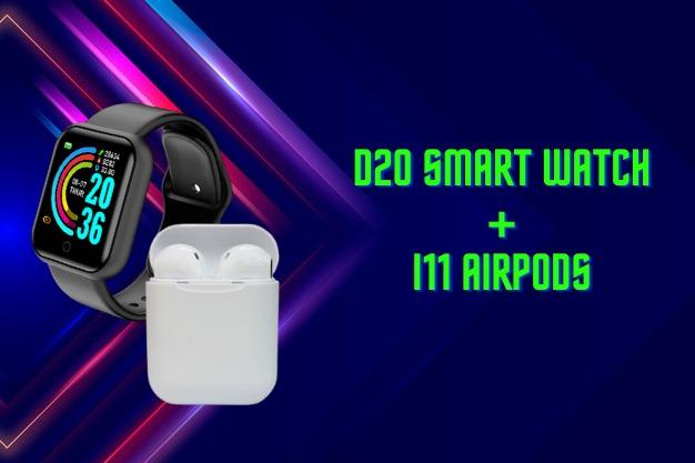 Smart Watch D20 + i11 Airpods