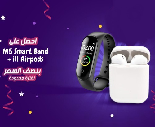 Airpods i11 + M5 Smart Band