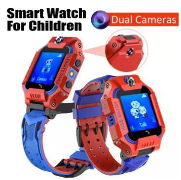 ساعة تتبع للأطفال لون ازرق في احمر