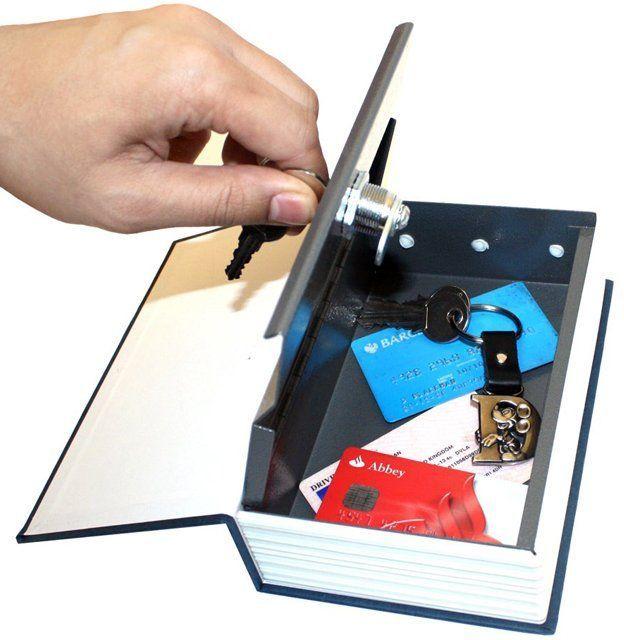 خزنة على شكل كتاب حجم صغير