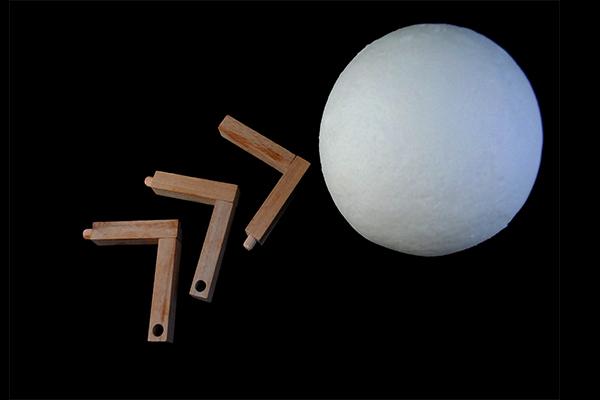 مصباح ضوء القمر مع فواحة 3D