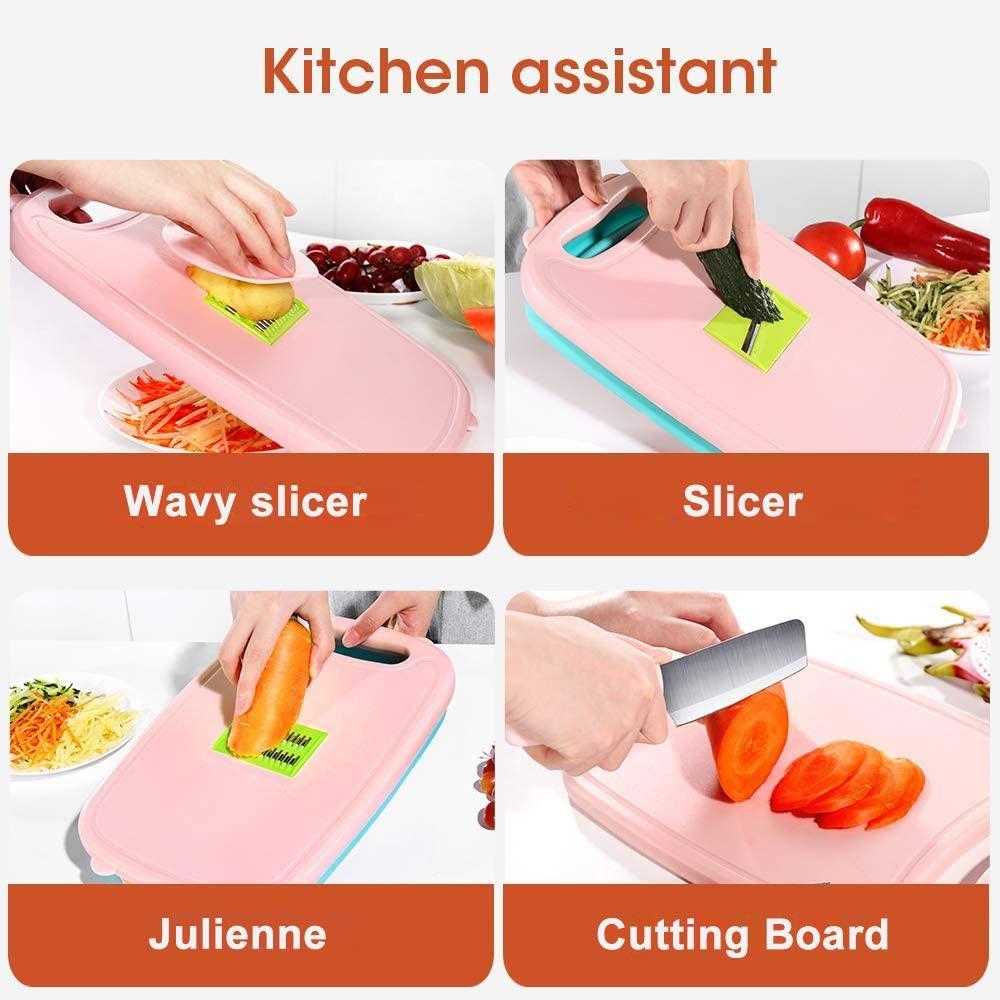 ألواح تقطيع للمطبخ 9 في 1 متعددة الوظائف