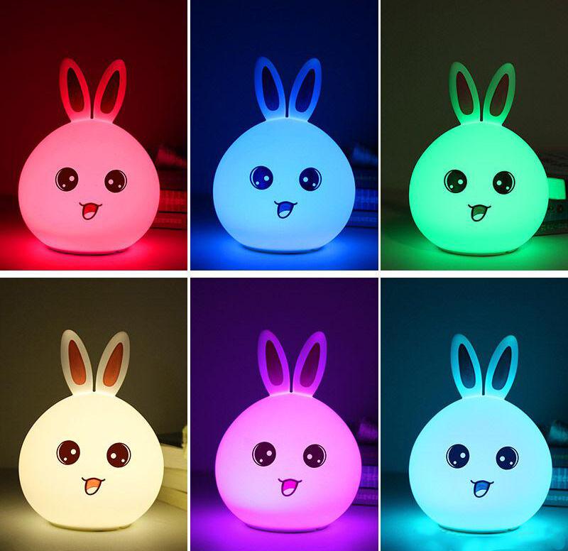 مصباح سيليكون تاتش على شكل ارنب