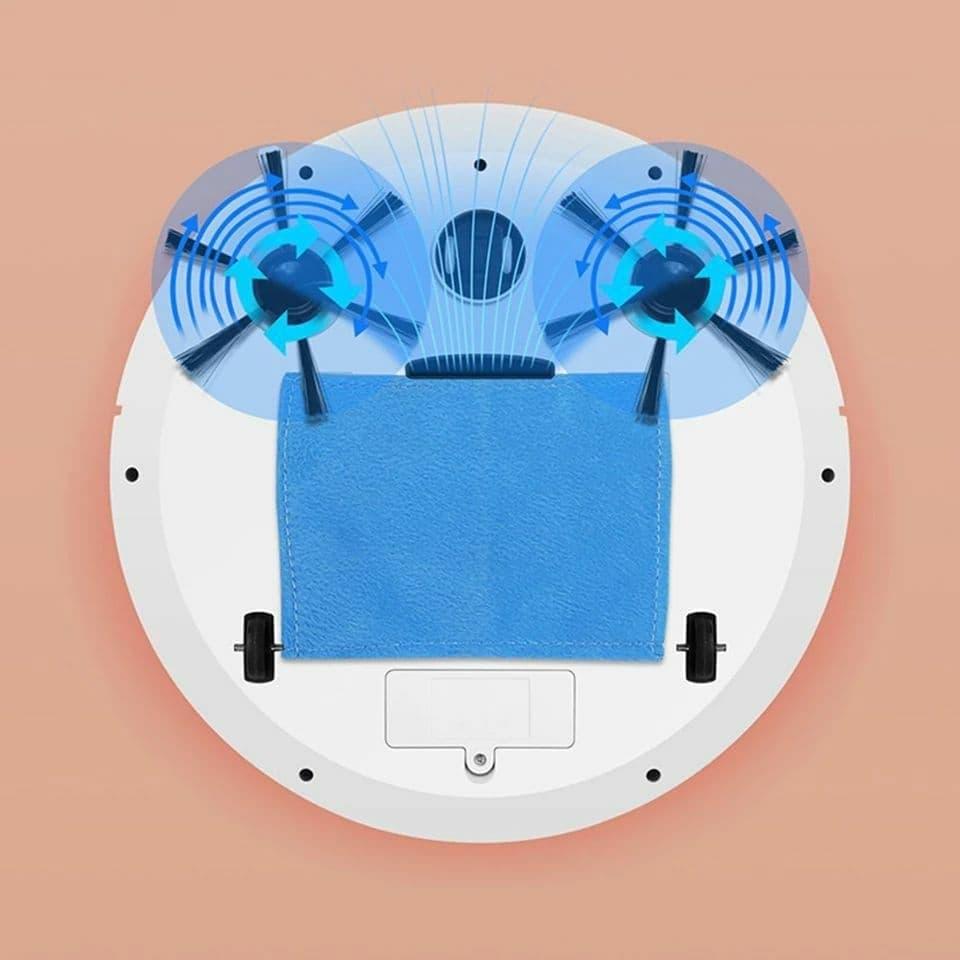 مكنسة كهربائية روبوت قوية للغاية قابلة لإعادة الشحن