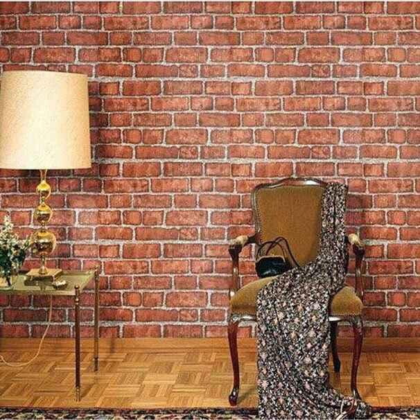 رول ورق حائط احمر 5 متر