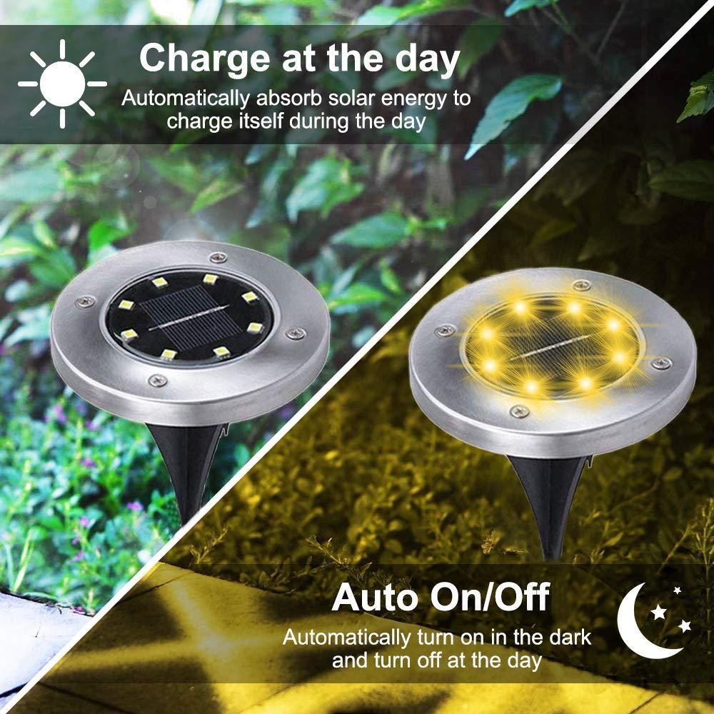 أضواء الحدائق LED بالطاقة الشمسية