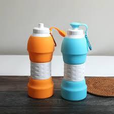 زجاجة مياه قابلة للطي سيليكون