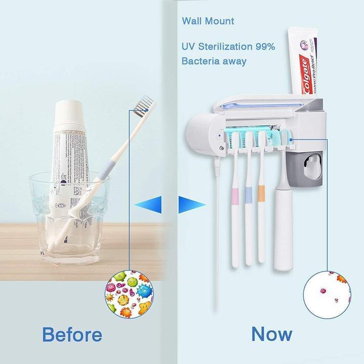 حامل و معقم فرش الأسنان