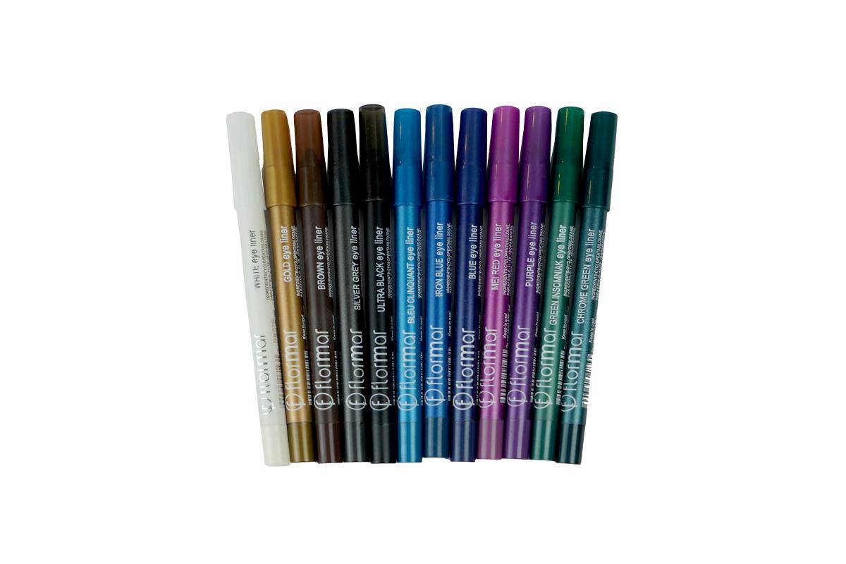 12 قلم كحل فلورمار الوان