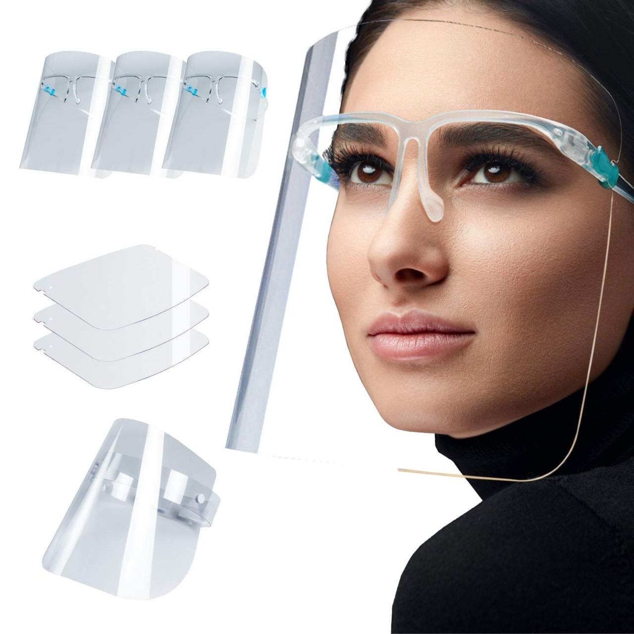 عرض أربع قطع قناع الحماية Face Shield