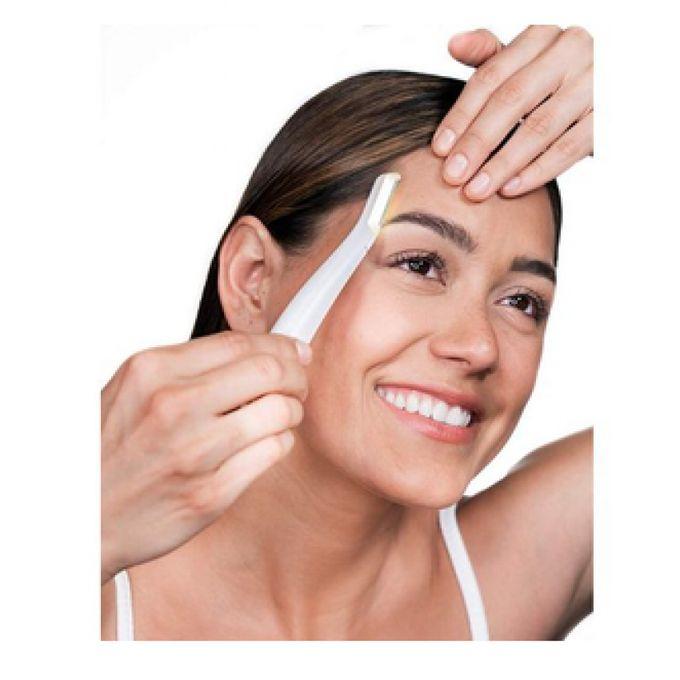 Flawless جهاز تقشير و ازالة شعر الوجه للنساء موس- شفرة
