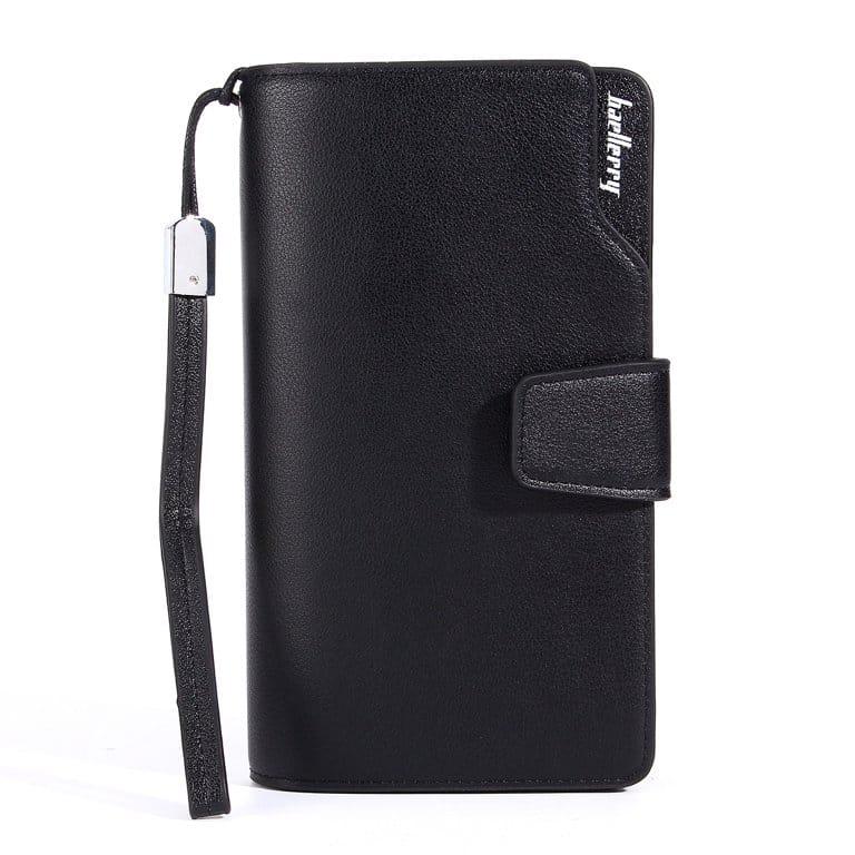 محفظة beallerry لون أسود بسوستة و كبسولة خارجية