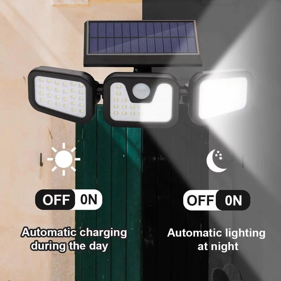كشاف طاقة شمسية ثلاثي 74 ليد