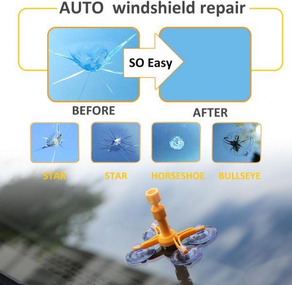Wind shield معالج شروخ الزجاج