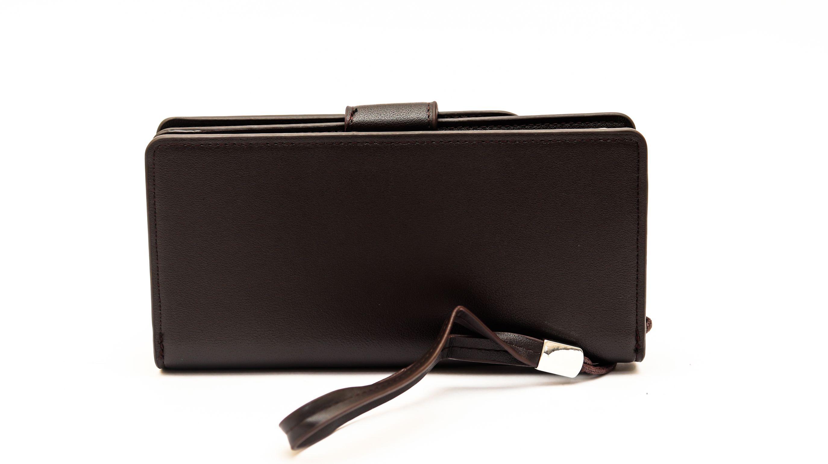 محفظة beallerry لون بني بسوستة و كابسولة خارجية